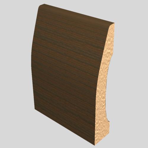 Laminated Baseboard Walnut 3386 Masters Building Products